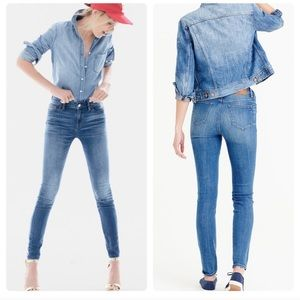 J. Crew Lookout High Rise Skinny Wallace Wash
